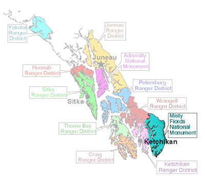 Map of Tongass National Forest